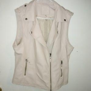 Max Studio faux leather vest.